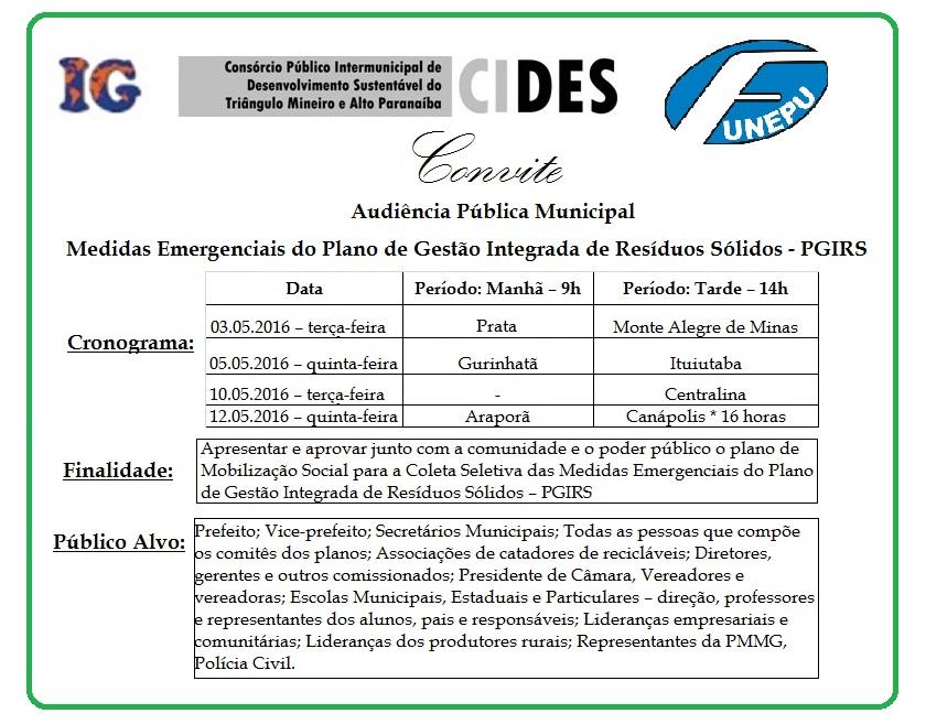 CONVITE AUDIENCIA PUBLICA