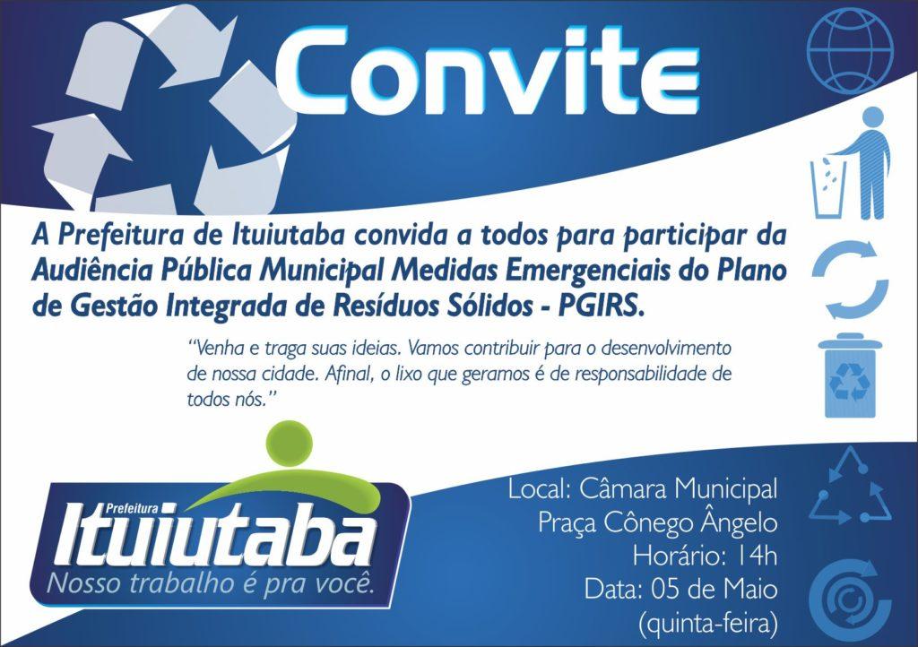 Convite-Residuos Sólidos